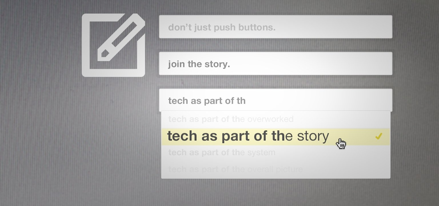 Tech as Part of the Story