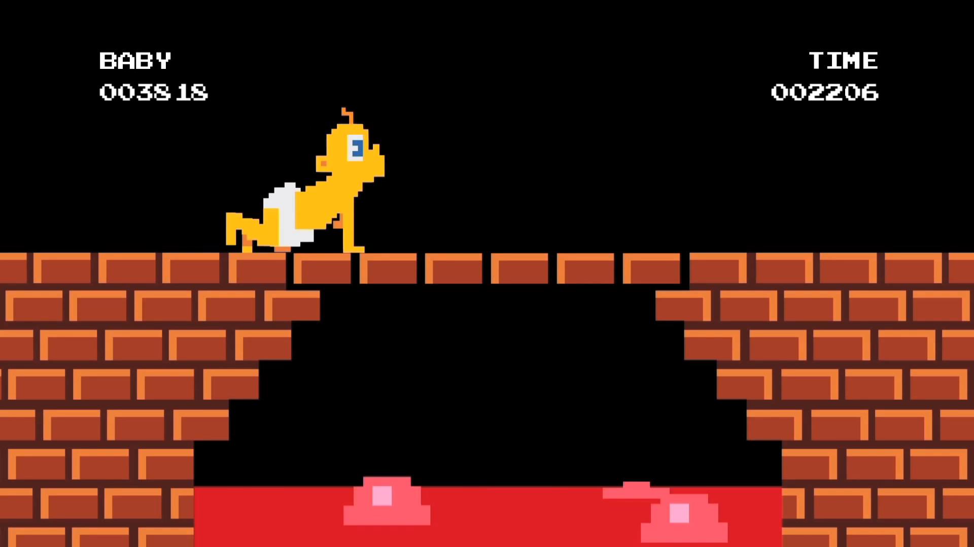 Smoking Baby 8-Bit Video Game