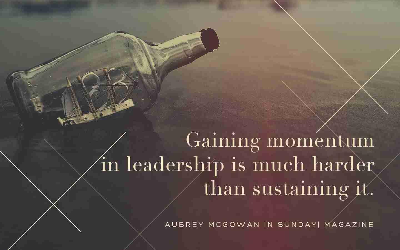 Momentum in Leadership