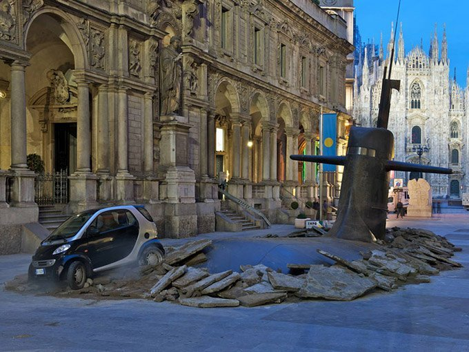 A-Huge-Submarine-Bursts-through-the-Streets-of