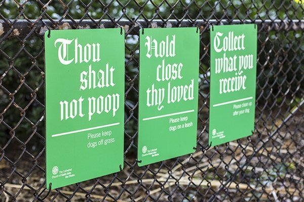 Church Makes Commandments to Keep Lawn Clean