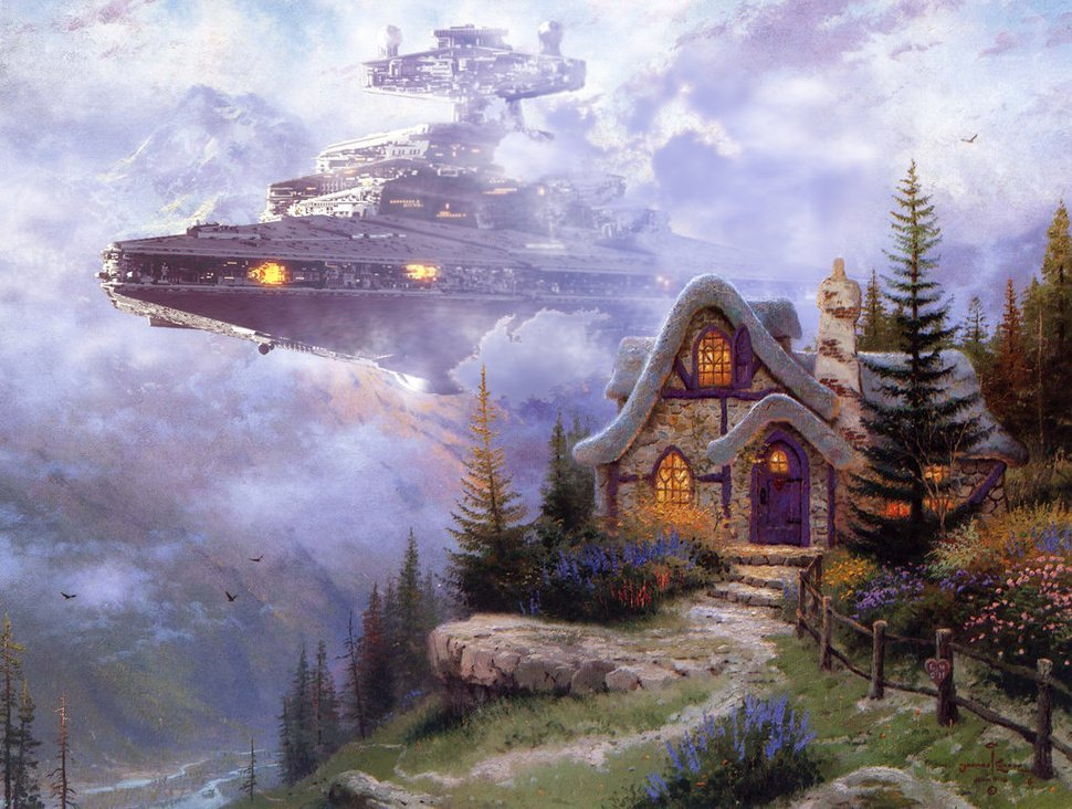 thomas kinkade star wars 1