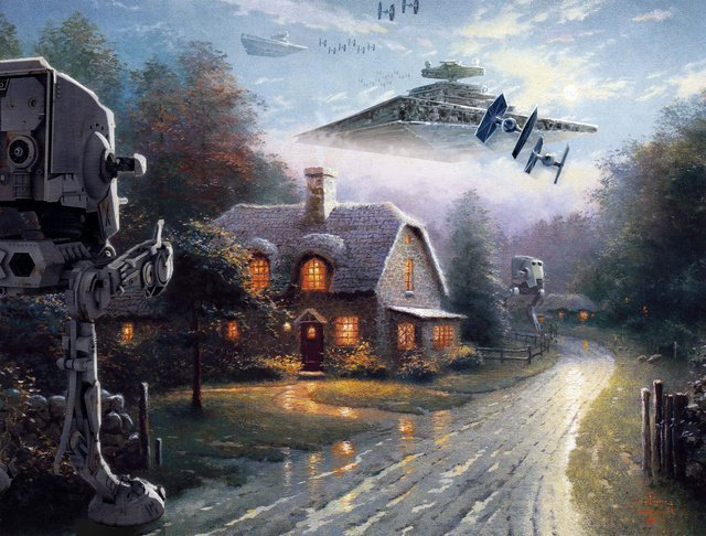 thomas kinkade star wars 2