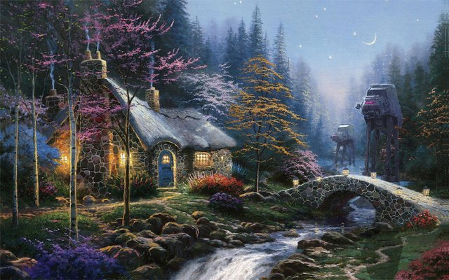 thomas kinkade star wars 3