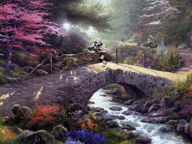 thomas kinkade star wars 4