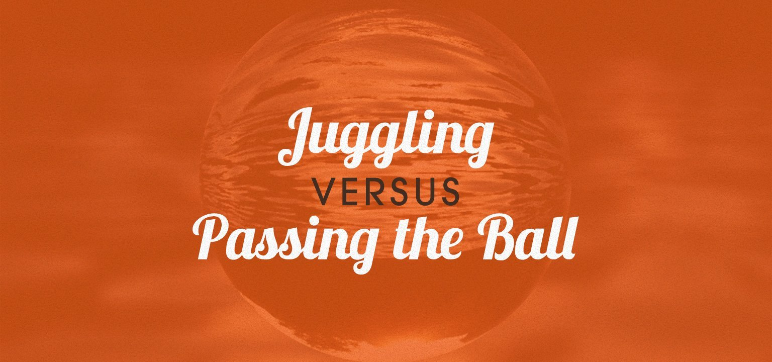 Juggling Versus Passing the Ball