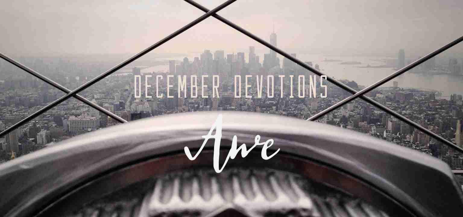 December Devotion: Awe