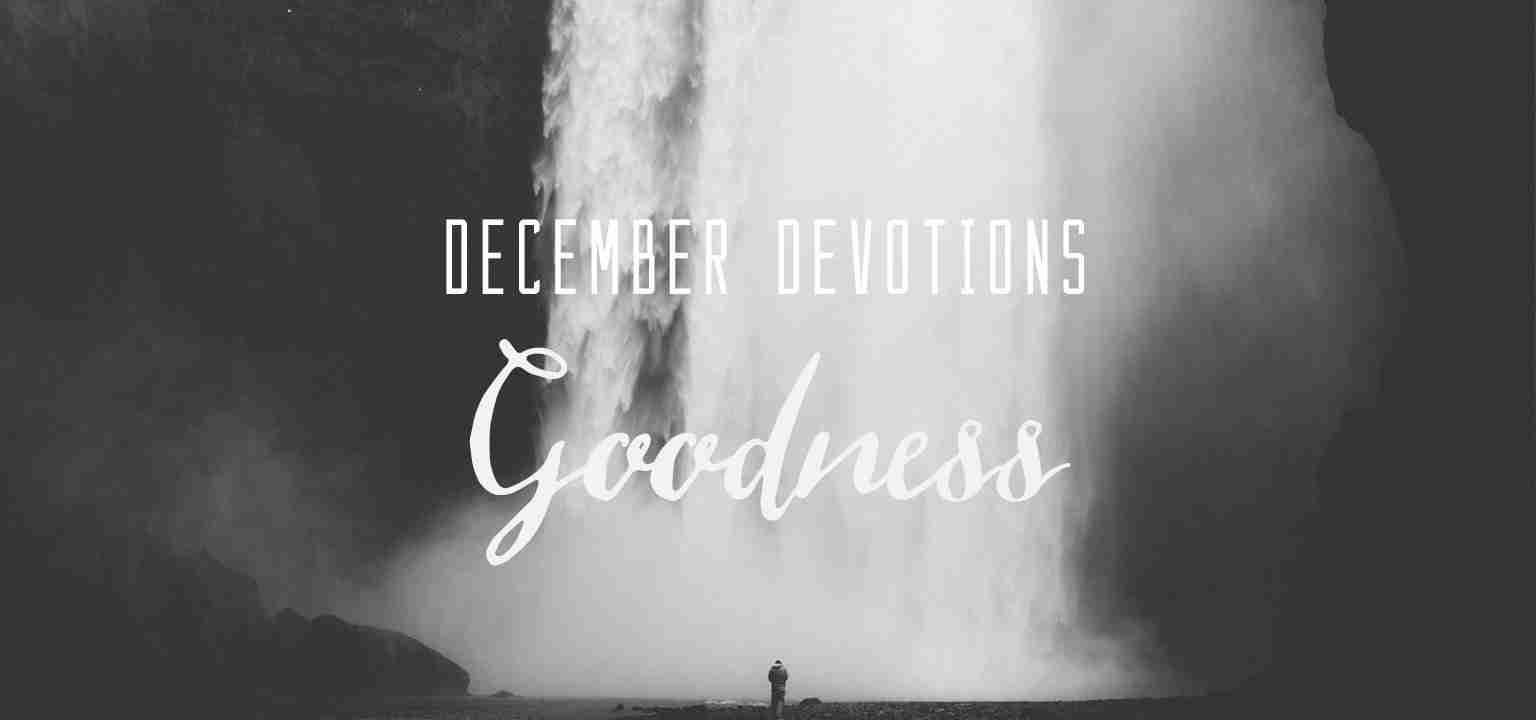 December Devotion: Goodness